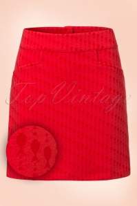 60s Flipper Famous Fish Skirt in Red