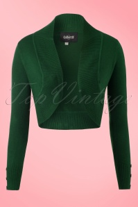 50s Jean Knitted Bolero in Dark Green