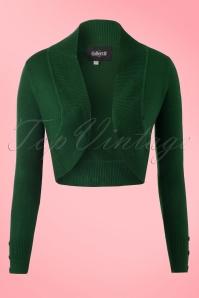 50s Jean Knitted Bolero in Dark Green