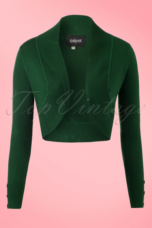 Collectif Clothing Jean Bolero in Green 141 40 18888 20160601 0001w