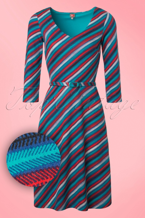 Wow to go! 60s Blue Red A line Dress 106 39 18535 20160929 0003W1