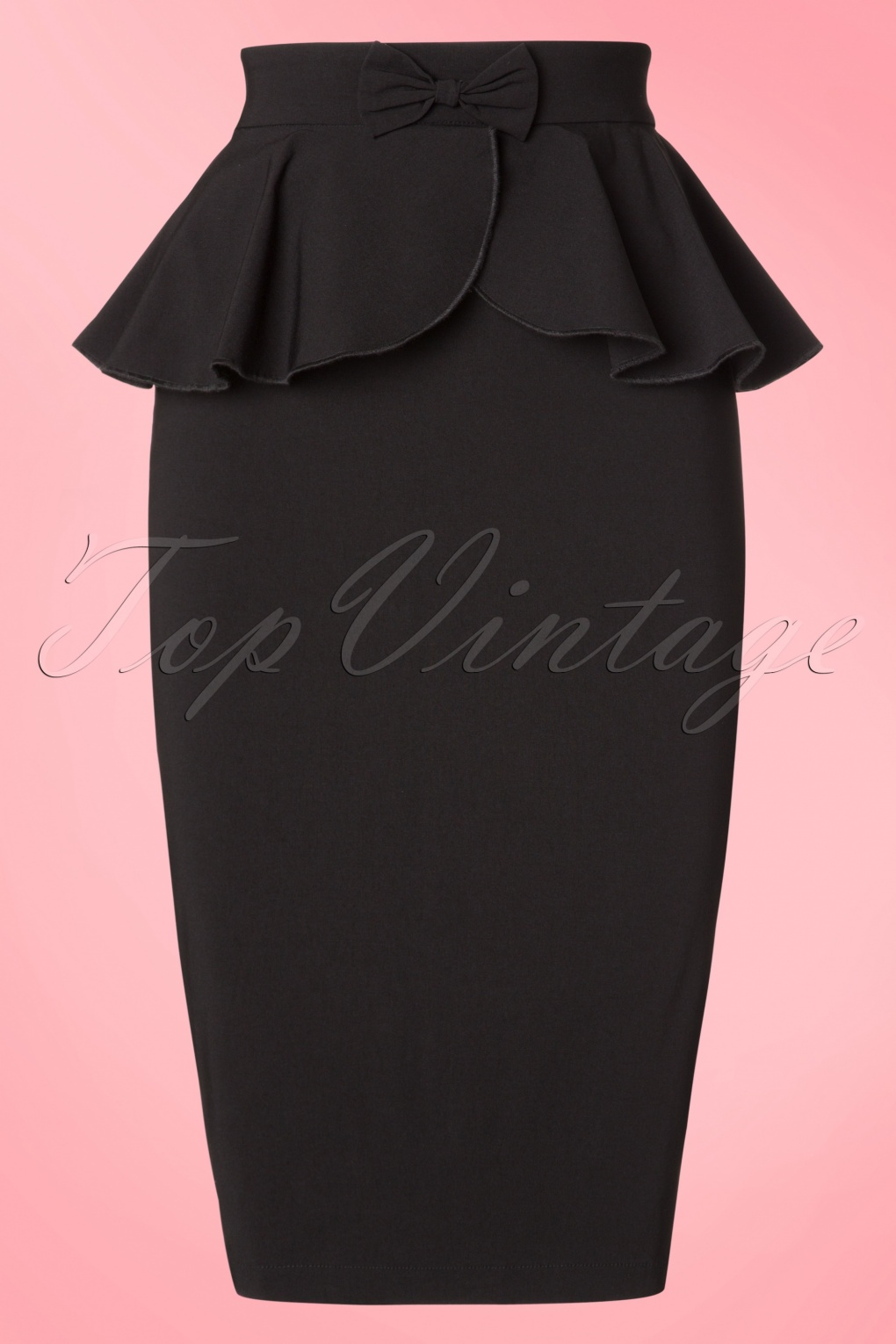 50s Skirt Styles | Poodle Skirts, Circle Skirts, Pencil Skirts 1950s 50s Pepper Peplum Pencil Skirt in Black £26.48 AT vintagedancer.com