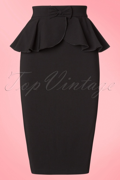 Collectif Clothing Pepper Peplum Skirt 18854 20160602 0004W