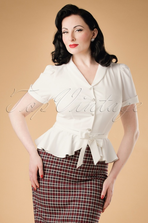 Collectif Clothing Phoebe Peplum Blouse 18917 20160602 1W