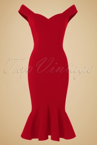 Collectif Clothing Josephine Fishtail Dress in Red 19929 20160531 0005w