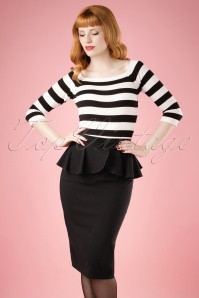 Collectif Clothing Pepper Peplum Skirt 18854 20160602 model01W