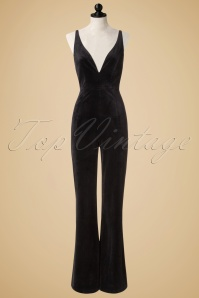 Bright and Beatiful Sacha Velvet Jumpsuit in Black 18829 20160531 0008pop