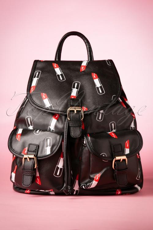 La Parisienne Black Lipstick Backpack 218 14 20015 20160930 0028w
