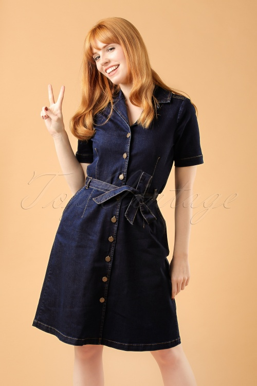 King Louie Lana Dress Denim CropWatermerk