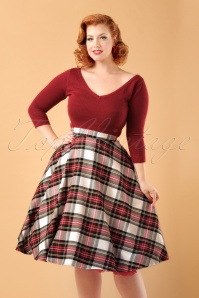 WBunny Doralee 50s Swing Skirt ModelfotoCropW