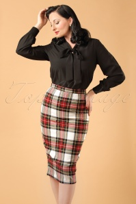 Bunny Jodie Stewart Tart Check Red Green Pencil Skirt ModelfotoCropW