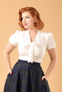 Collectif Clothing Tura Plane Blouse ModelfotoWatermerk