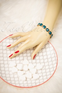 Lovely Cushion Cut Teal Bracelet 311 30 20034 10032016 021W