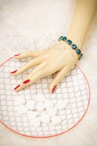 Lovely Cushion Cut Teal Bracelet 311 30 20034 10032016 021W