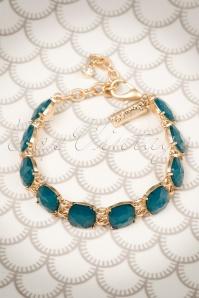 Lovely Cushion Cut Teal Bracelet 311 30 20034 10032016 011W