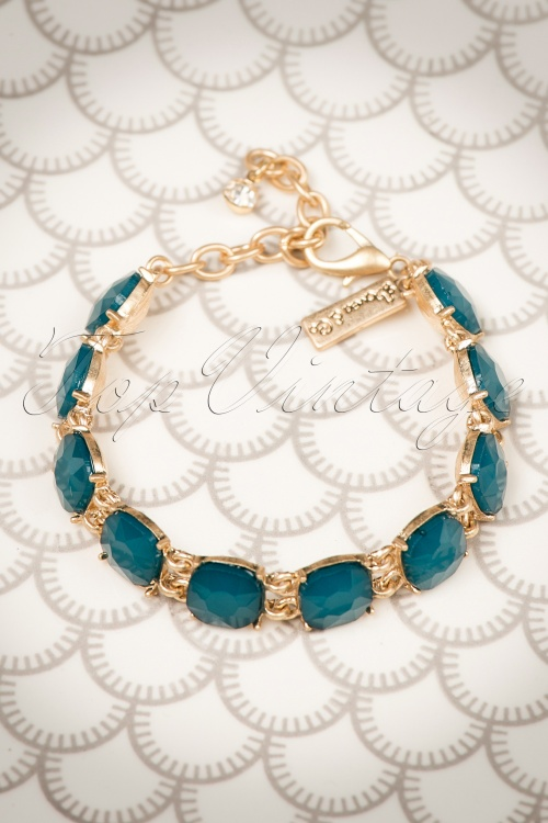 Lovely Cushion Cut Teal Bracelet 311 30 20034 10032016 011W