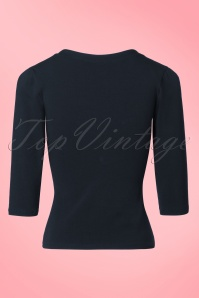 Miss Candyfloss Navy Blue Top 113 10 19403 20160927 0008W