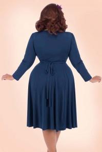 Lady V Lyra Dress in Navy Blue 102 31 20115 2