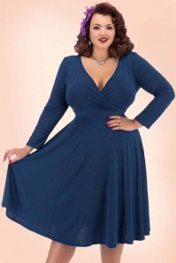 Lady V Lyra Dress in Navy Blue 102 31 20115 1