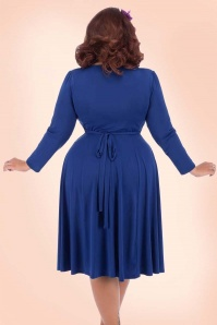 Lady V 50s Lyra Royal Blue Dress 17463 1