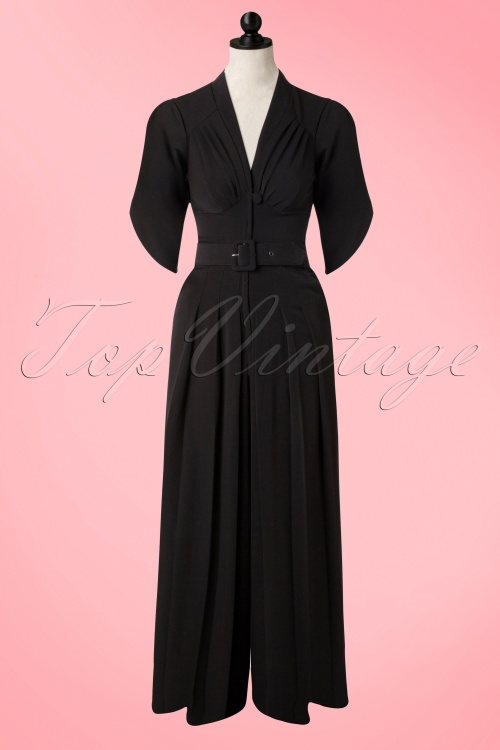 super popular 1aeab de85b 40s Gigi Jumpsuit in Black