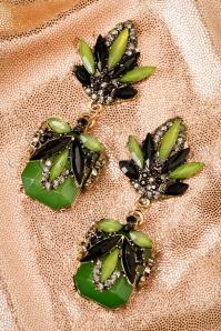 Lola Green Flower Earrings 333 40 19986 10042016 006W