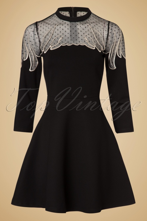 Minueto Angel Dress in Black 102 10 18844 20161004 0011w