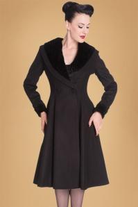 50s Vivien Swing Coat in Black