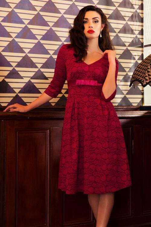 Vixen Jane Red Lace Swing Dress 102 20 19444 20161004 01
