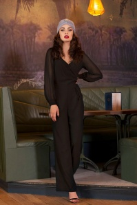 40s Rosemary Jumpsuit in Black