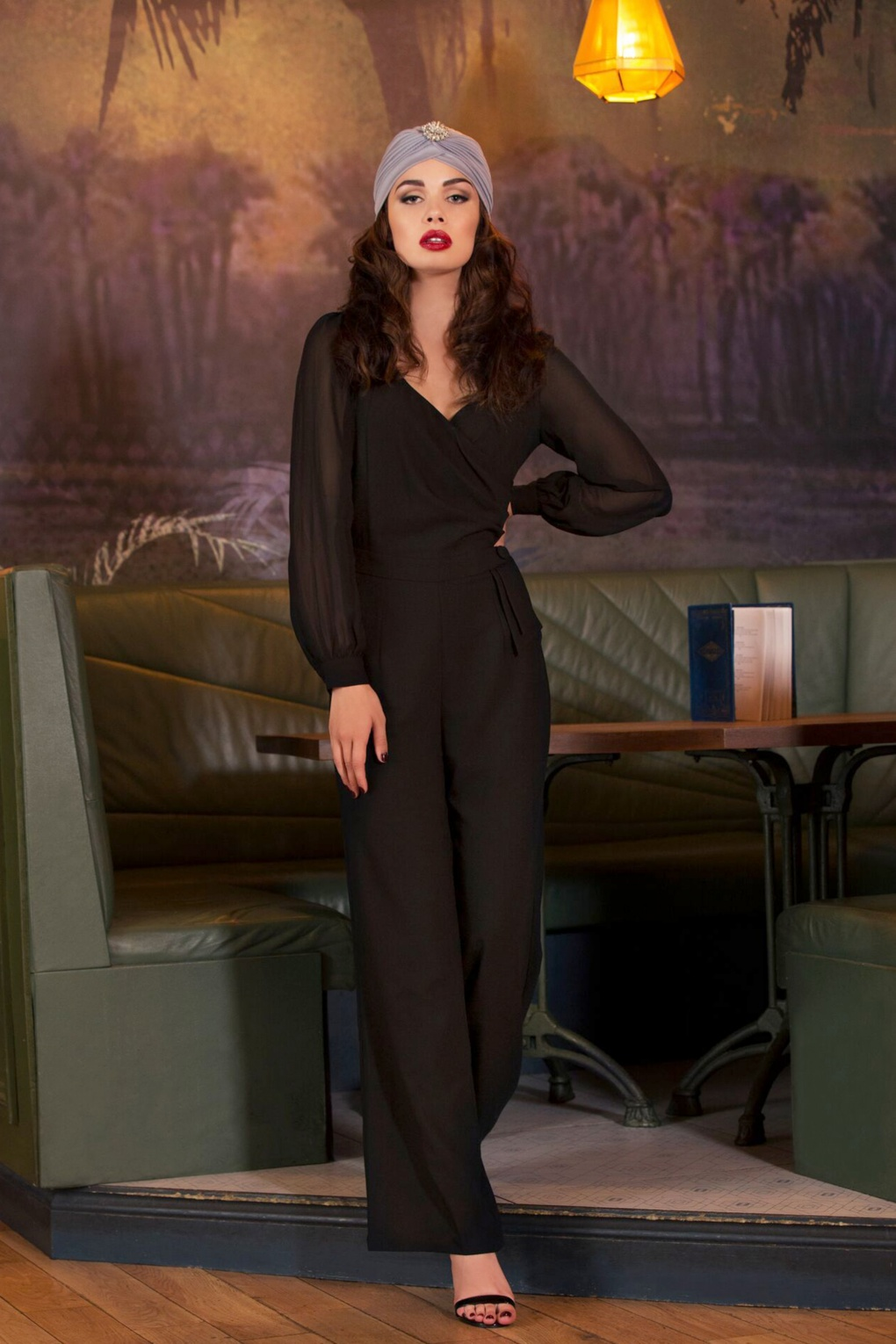 Vintage High Waisted Trousers, Sailor Pants, Jeans 40s Rosemary Jumpsuit in Black £61.59 AT vintagedancer.com