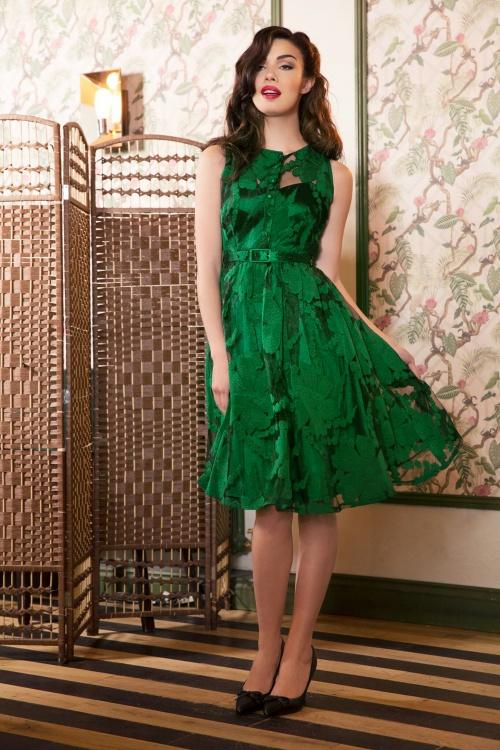 Vixen Maggie Green Dress Inspired by Dita von Teese 102 40 19438 20161004 0014