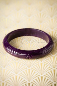 TopVintage Exclusive ~ Abigail Midi Carved Bangle Années 1920 en Noir