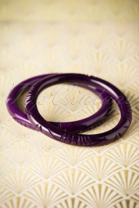 Splendette Narrow Purple Fakelite Bangle 310 60 19926 10052016 005W