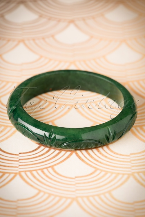 Splendette Midi Deep Green Fakelite Bangle 310 40 19921 10052016 001W
