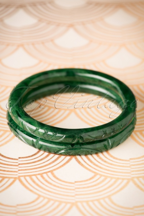 Splendette Narrow Deep Green Fakelite Bangle 310 40 19922 10052016 001W