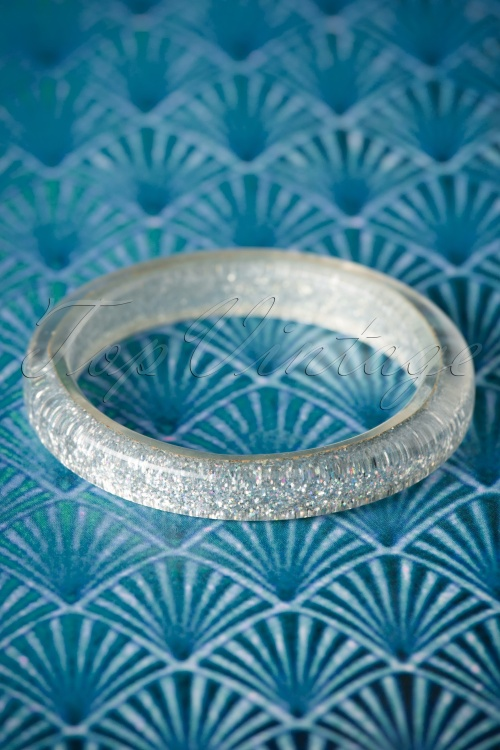 Splendette Silver Glitter Bangle 310 92 20135 10062016 002W
