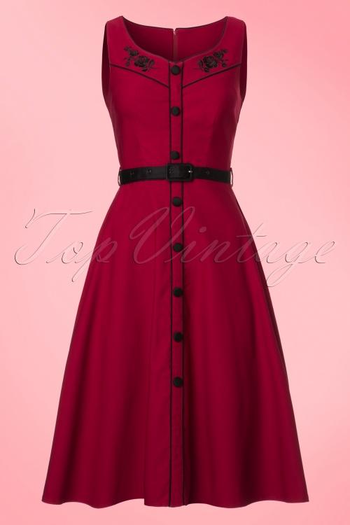 Vixen Marjorie Red Swing Dress 102 20 19442 20161004 0002W