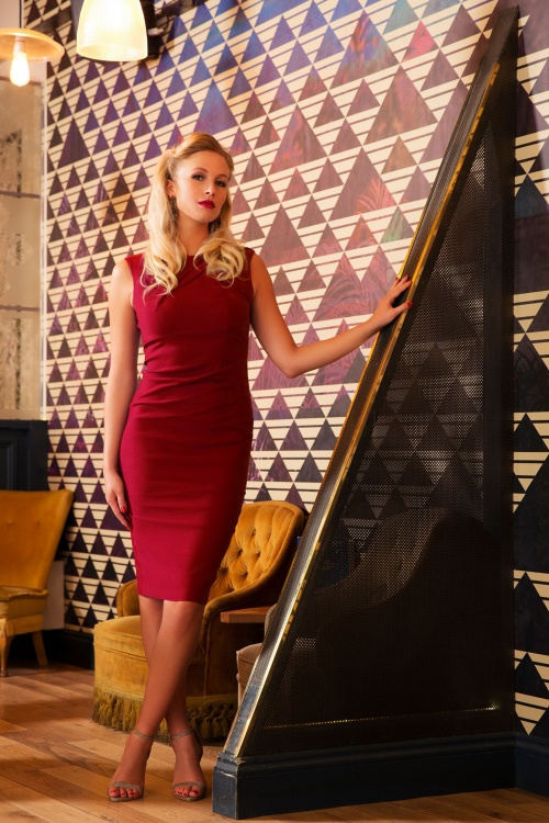Vixen Claudette Red Pencil Dress 100 20 19440 20161004 0013
