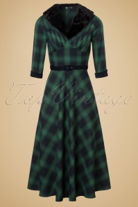 Vixen Lola Green Checkered Dress 102 49 19453 20161004 0009W