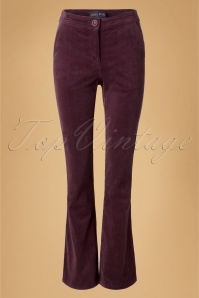 70s Holiday Corduroy Trousers in Aubergine