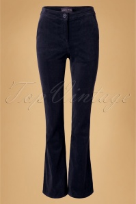 70s Holiday Corduroy Trousers in Navy