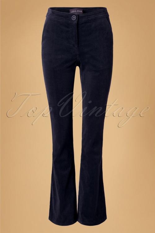 Aida Zak Holiday Corduroy Navy Trousers  131 31 18674 20160531 0009w