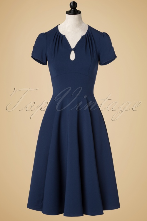 Bunny Riley Dress in Navy Blue 102 31 19555 20161007 0002pop