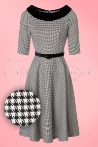 Bunny Jackson Black and White Houndstooth Dress 102 14 19548 20161007 0015W1