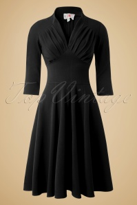 Miss Candyfloss Vedette Black Swing dress 102 10 11220 20150925 0001w