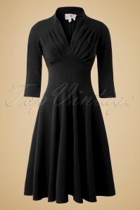 Miss Candyfloss Vedette Black Swing dress 102 10 11220 20150925 0001w