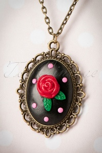 Sweet Cherry Sweet Black Rose Necklace 310 10 20081 10102016 011aW