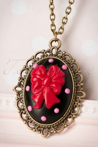 Sweet Cherry Sweet Black Ribbon Necklace 310 10 20082 10102016 013W