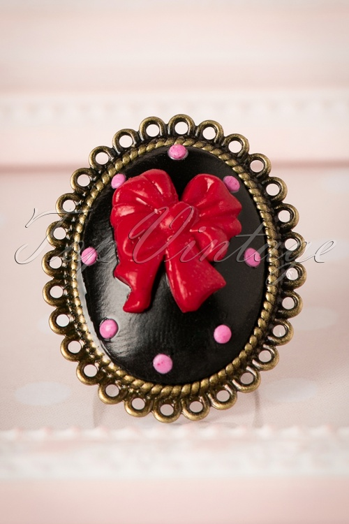 Sweet Cherry Sweet Black Ribbon Ring 310 10 20083 10102016 007W